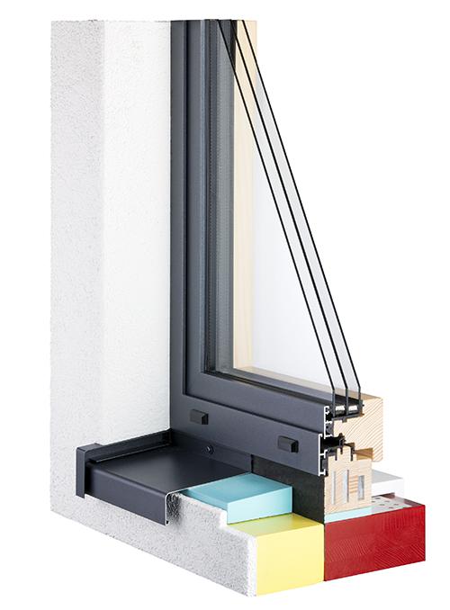 Fenster Querschnitt Passivhaus