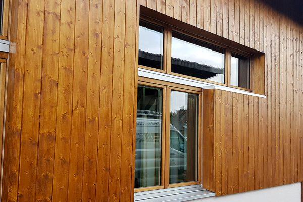 Holzfassade komplett