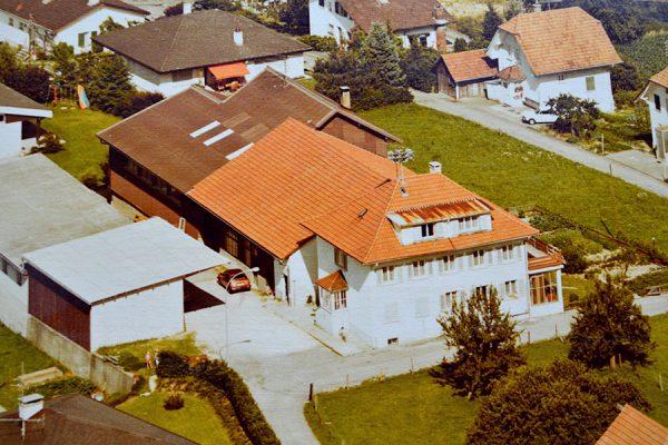 alte Aufnahme von oben
